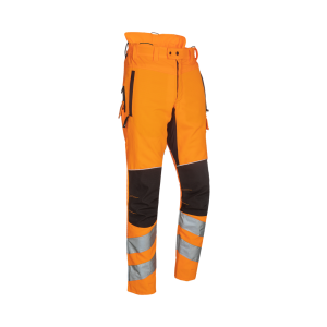 CHAINSAW TROUSERS SIP PROGRESS SAMOURAI HI-VIZ
